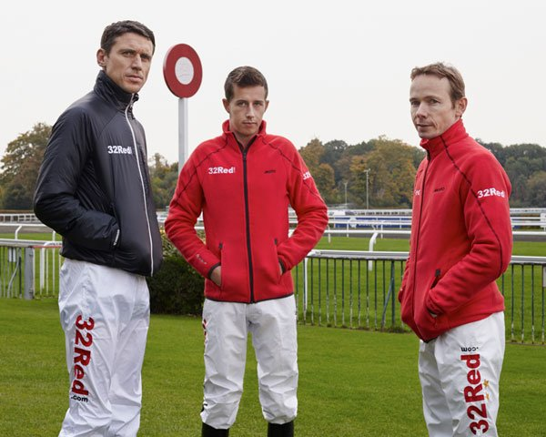 32Red Ambassadors Paddy Brennan, Bryan Cooper and Jamie Spencer
