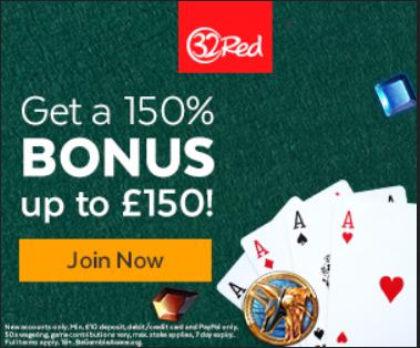 150% casino bonus